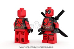 Sarcastic Mercenary - Available for Presale (Phoenix Custom Bricks) Tags: phoenix lego superhero minifig custom customs katanas minifigure mercenary