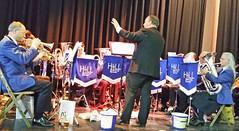 T't brass band at t't beer festival (Majorshots) Tags: yorkshire camra brassband saltaire westyorkshire victoriahall bradfordbeerfestival hallroydbrassband
