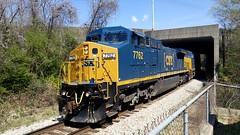 CSX Q231-20 3/23/16 (tjtrainz) Tags: atlanta elephant electric train ga georgia paint general style terminal fresh ge eastpoint csx subdivision autorack csxt c408w 840cw q231 yn3b et44ah