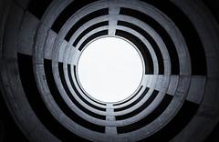 spiral (David Go ~) Tags: sky building art germany spiral blackwhite parkinggarage kunst himmel round architektur around monochrom wendel parkhaus architectur badenwrttemberg parkdeck schwarzweis davego davidgo kreisform canoneos6d circelsharp