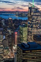 Sixth Avenue (DSC01600) (Michael.Lee.Pics.NYC) Tags: sunset newyork night twilight nikon jerseycity cityscape sony aerial observatory hudsonriver bluehour metlife topoftherock sixthavenue bankofamericatower nikkor85mmaf18 a7rm2 sevenbryantpark