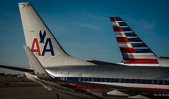 2016 - DFW  - AA Old vs New Logo (Ted's photos - For Me & You) Tags: windows plane logo airport flag aeroplane dfw americanairlines aa winglets fuselage usaflag 2016 tepotzlan aacom tedmcgrath tedsphotos