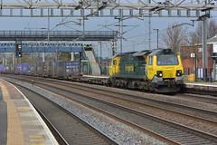 70011 Rugeley TV 08/03/16 (yamdood91) Tags: tv rugeley 2016 wcml trentvalley frieghtliner 70011 class70
