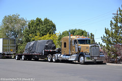 Rowe Machinery Kenworth W900L (NV) (Trucks, Buses, & Trains by granitefan713) Tags: tractor sleeper 18wheeler flatbed kenworth tractortrailer bigrig largecar longhood trucktractor kenworthtruck stepdeck w900l kenworthw900l sleepertractor