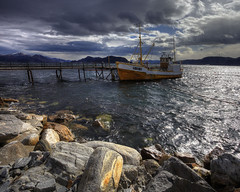 Ship Moored in the Fjord (717Images) Tags: sea sky weather norway clouds coast ship stormy vessel coastal fjord