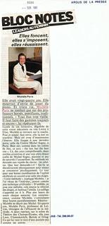 MICHEL SOGNY PRESSE BIBA 1981