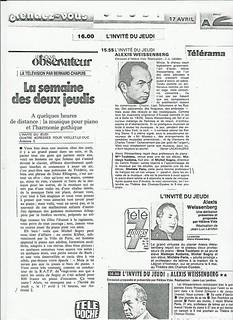 MICHEL SOGNY PRESSE NOUVEL OBSERVATEUR AVRIL  1981