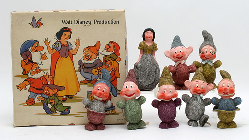 1938 Disney Snow White & the 7 Dwarves Christmas Ornaments ($192.50)