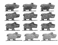Talking-beast worksheet (Don Moyer) Tags: dog moleskine ink notebook drawing beast moyer brushpen donmoyer