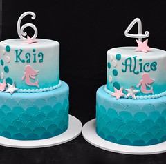 Mermaid birthday cakes (jennywenny) Tags: birthday cake mermaid