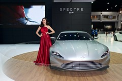 Aston Martin DB 10 Spectre with beautiful, sexy presenter at the 37th Bangkok International Motorshow at IMPACT Challenger in Muang Thong Thani, Nonthaburi, Thailand (UweBKK ( 77 on )) Tags: auto show red woman sexy cars girl beautiful beauty fashion silver thailand james hall model asia dress martin 10 bangkok sony style automotive db exhibition event international thong impact bond motor southeast 37 alpha dslr thani 77 challenger aston spectre astonmartin slt 007 motorshow presenter 37th muang nonthaburi db10