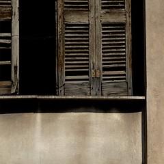 Athens 2016 (No Great Hurry) Tags: window shadows athens minimal greece negative shade shutters weathered minimum louvred robinbarr oncewashome nogreathurry robinmauricebarr