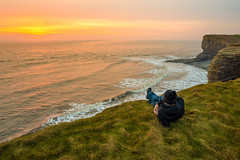 Chilling at Nash point (technodean2000) Tags: uk sunset wales point coast nikon south monk chilling nash lightroom d610