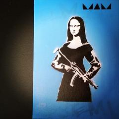 Mona Lisa Bang (MAM Helsinki City) Tags: art graffiti stencil handmade nike urbanart spraypaint stencilart waltdisney notbanksy sprayart katutaide stencilporn monalisastencil monalisastreetart mamhelsinki monalisabang helsinkikatutaide banksymonalisa
