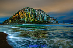 Rock and the waves (bay area man) Tags: ocean california park sunset sea storm beach water colors rock clouds outdoors bay coast nikon waves state morro d7100
