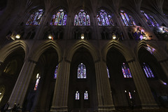 National Cathedral Nave (Lawrence OP) Tags: washingtondc cathedral arches stainedglass nave national