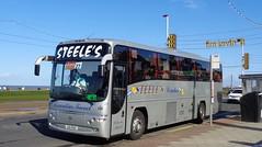 LIG1762 Steele's Coaches on Blackpool Promenade (j.a.sanderson) Tags: volvo coach promenade blackpool coaches paragon steeles plaxton b12m lig1762