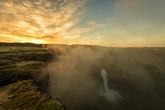The town was empty, the mist had taken them (marcusklotz2014) Tags: cliff mist fog sunrise landscape waterfall washington nikon waterfalls snakeriver pacificnorthwest washingtonstate pnw palouse easternwashington palousefalls explorewashington 142428 exploremore