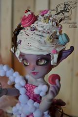 Cupcake! (Neko & Kao) Tags: cute butterfly outfit doll cupcake wig tiny creamy fairytalestreasuresdolls