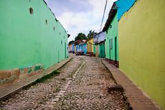 Colorful street in Trinidad, Cuba (Dalliance with Light) Tags: street car architecture vintage town cu colorful cuba cobblestone trinidad sanctispritus