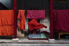 Mandalay // Myanmar (Christian Clowes) Tags: street red orange nikon asia burma religion streetphotography sigma monk monastery myanmar mandalay bhudda bhuddism d810