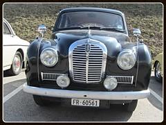 Austin A40 Somerset (v8dub) Tags: auto old classic car austin schweiz switzerland automobile suisse somerset automotive voiture oldtimer british 40 fribourg oldcar freiburg collector wagen pkw klassik a worldcars
