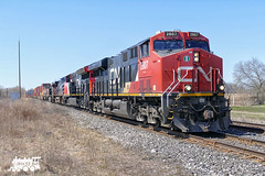 CN 2807 (Ramblings From The 4th Concession) Tags: freighttrains cnrail lyndenontario gelocomotives es44ac cndundassub panasonicfz1000 cn2807