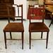 Dark hardwood stained kitchen chair