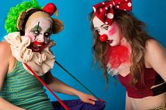Clowns clowning. (gerardcaffreys Images) Tags: clowns
