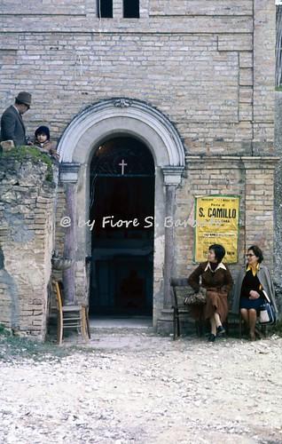 Bucchianico (CH), 1978, Festa di San Camillo alla Calcara.