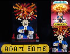 Adam Bomb Garbage Pail Kid (damoncorso) Tags: adam classic vintage cards toys photo kid garbage 80s collectible bomb pail gpk