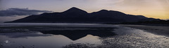 Mournes silhouette (Alfonso Salgueiro   Photography) Tags: ireland panorama easter newcastle lumix bluehour mournes codown lx100