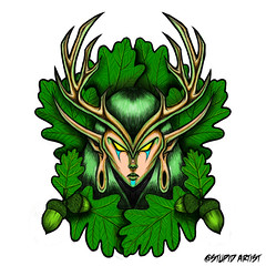 Woodelf Goddess (stupidartist) Tags: tree art comics oak comic drawing cartoon worldofwarcraft elf lotr fairy acorn comix dungeonsanddragons faery woodelf nightelf highelf stupidartist rjdibenedetto
