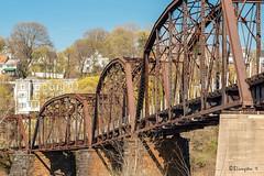 RR Bridge on the Delaware (Bruce Livingston) Tags: bridge architecture pennsylvania rr easton delawareriver railbridge