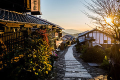 Sunrise at Magome Village (Breuer Photos) Tags: travel signs nature japan sunrise 35mm lens japanese prime nikon asia village photos hiking streetphotography fx travelblog lightroom magome breuer nakasendo d610 travelgram markusbreuerphotography sunriseoftheday