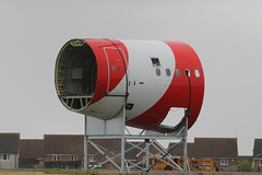 RP-8992 rear fuselage. (aitch tee) Tags: aircraft airliner a320 firerescue walesuk cardiffairport firesection rearfuselage trainingaid maesawyrcaerdydd rpc8992 airasiazest cwlegff southwalesaviationgroup