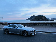 Mercedes Benz SL500 (Goiko-Auto) Tags: santa clara de mercedes benz la san sebastian playa amanecer concha isla donostia sl500 urgul