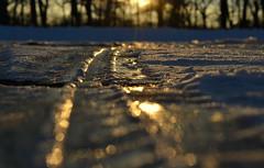 pathways (joy.jordan) Tags: road winter light sunset snow texture ice bokeh ontheground