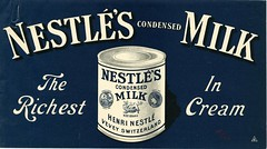 Nestl's condensed milk ad, ca. 1900 (Nestl) Tags: history poster milk anniversary ad 150 advert archives historical condensed angloswiss 150year nestlsa