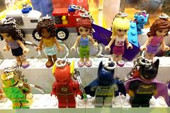minifigs (Ian Muttoo) Tags: friends toronto ontario canada store keychain lego flash gimp batman batgirl minifig minifigs legostore keychains theflash sherwaygardens legofriends 20160116165458edit