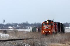 GWR 5625 @ Ladd, IL (Michael Polk) Tags: railroad chicago burlington train quincy branch 5 great western freight gwr ladd streator 5625 cbq gp20 railnet cf7 llinois