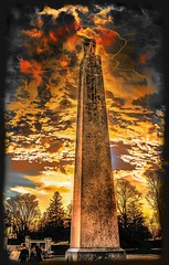 45th War Monument (Rusty Russ) Tags: sky people color monument composite clouds photoshop magazine t ma creativity photo yahoo blog google war paint flickr pin all image artistic massachusetts creative young photographers commons manipulation brush blogs national montage saturation getty lightning newsroom filters common paysage hue flic winners geographic bing wiki newburyport facebook wikimedia openuniversity stumbleupon daum atkinson worldskills ilri painttexture reddit twitter photoscape tumblr flickriver pixelpeeper fiveprime flickrhivemind pinterest alpilo oceannetworks comflight stockpainterly