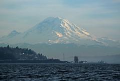 IMG_6029CE3 - Puget Sound, enroute Port Madison from Shilshole Bay - Mount Rainier (BlackShoe1) Tags: seattle lighthouse volcano mountrainier westpoint