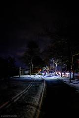 2/10/16 Day 137 (GarrettHerzig) Tags: street city trees winter urban snow cold boston night fuji path southwestcorridor 365project x100t fujix100t