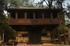 """Kullu"" Hut of Himachal Pradesh, at Crafts Museum, New Delhi (ilovethirdplanet) Tags: india woodwork delhi hut ind"