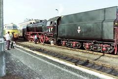 PT47-65 and SU45-077, Wolsztyn 23-09-94 (Tin Wis Vin) Tags: poland steam railways locos pkp wolsztyn pt4765 su45077