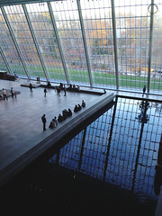 The Met (chasingtimemedia) Tags: new york newyorkcity travel windows light people reflection water glass museum reflections natural manhattan perspective tourists waters met metropolitan travelphotography