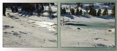 Wasser und Eis (freesie50) Tags: schnee winter schweiz bach eis engadin pontresina urlaub2016