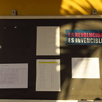 "School Info Board- La Revolucion Es Invencible <a style=""margin-left:10px; font-size:0.8em;"" href=""http://www.flickr.com/photos/14315427@N00/24551981373/"" target=""_blank"">@flickr</a>"