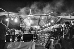 Chez SIMO. (enzo marcantonio) Tags: africa street leica city travel people blackandwhite bw food night work square outside holidays place outdoor streetphotography eat enzo marocco marrakech souk streetphoto q streetfood summilux ethnicity jamaaelfna marcantonio leicaq enzomarcantonio